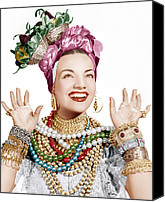 1940s Portraits Canvas Prints - Carmen Miranda, Ca. Late 1940s Canvas Print by Everett