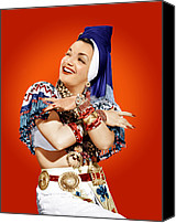 Concho Belt Canvas Prints - Carmen Miranda, Ca. Mid-1940s Canvas Print by Everett