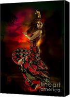 Dancing Digital Art Canvas Prints - Carmen Canvas Print by Shanina Conway