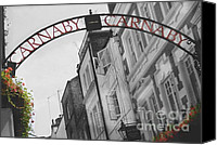 Selective Color Mixed Media Canvas Prints - Carnaby Street London III Canvas Print by Louise Fahy