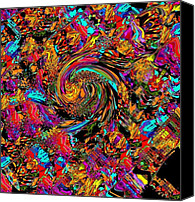 Oksana Linde Canvas Prints - Carnaval 08 Canvas Print by Oksana Linde