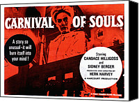 1960s Poster Art Canvas Prints - Carnival Of Souls, British Quad Poster Canvas Print by Everett