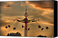 Heart Plaza Canvas Prints - Carnival Ride Canvas Print by Nicholas  Grunas