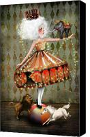 Tent Digital Art Canvas Prints - Carnivale Canvas Print by Jessica Grundy