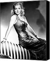 Publicity Shot Canvas Prints - Carole Landis, Publicity Shot, Ca. 1943 Canvas Print by Everett