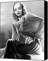 Publicity Shot Canvas Prints - Carole Landis, Publicity Shot, Ca. 1944 Canvas Print by Everett