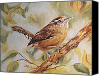 Carolina Wren Canvas Prints - Carolina Wren II Canvas Print by Cheryl Pass