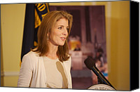 First Family Canvas Prints - Caroline Kennedy Speaking Canvas Print by Everett