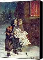 Chill Canvas Prints - Carols for Sale  Canvas Print by Augustus Edward Mulready