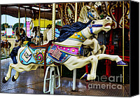 Roundabout Canvas Prints - Carousel - Horse - Jumping Canvas Print by Paul Ward