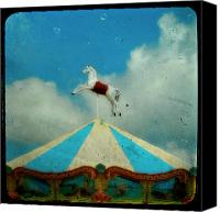 Tent Digital Art Canvas Prints - Carousel Day Canvas Print by Gothicolors With Crows