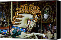 Roundabout Canvas Prints - Carousel horse - 4 Canvas Print by Paul Ward