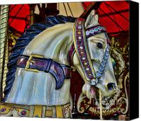 Roundabout Canvas Prints - Carousel Horse - 7 Canvas Print by Paul Ward