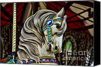 Roundabout Canvas Prints - Carousel Horse 3 Canvas Print by Paul Ward