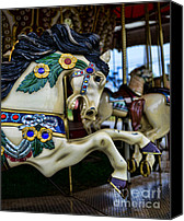 Roundabout Canvas Prints - Carousel Horse 5 Canvas Print by Paul Ward