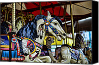 Roundabout Canvas Prints - Carousel Horse 6 Canvas Print by Paul Ward