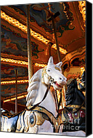 Merry-go-round Canvas Prints - Carousel horse Canvas Print by Fabrizio Troiani