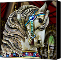 Merry-go-round Canvas Prints - Carousel Horse  Canvas Print by Paul Ward