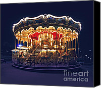 Merry-go-round Canvas Prints - Carousel in Paris Canvas Print by Elena Elisseeva