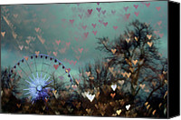 Roundabout Canvas Prints - Carousel of Hearts Canvas Print by Georgia Fowler