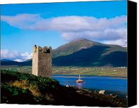 Achill Island Canvas Prints - Carrickkildavnet Castle, Achill Island Canvas Print by The Irish Image Collection