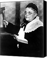 Fanatic Photo Canvas Prints - Carrie Nation, Circa 1900 Canvas Print by Everett