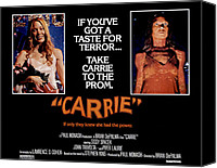 Horror Movies Canvas Prints - Carrie, Sissy Spacek, 1976 Canvas Print by Everett
