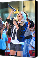 Red Carpet Canvas Prints - Carrie Underwood On Stage For Nbc Today Canvas Print by Everett