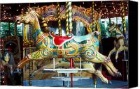 Merry-go-round Canvas Prints - Carrouse horse Paris France Canvas Print by Garry Gay