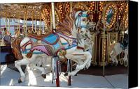 Carrousel Art Canvas Prints - Carrousel 104 Canvas Print by Joyce StJames