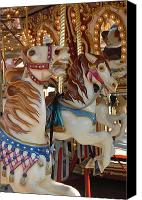 Carrousel Art Canvas Prints - Carrousel 105 Canvas Print by Joyce StJames