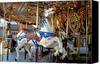 Carrousel Art Canvas Prints - Carrousel 106 Canvas Print by Joyce StJames