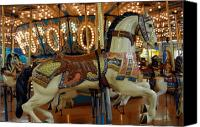 Carrousel Animals Canvas Prints - Carrousel 14 Canvas Print by Joyce StJames