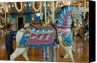 Carrousel Art Canvas Prints - Carrousel 15 Canvas Print by Joyce StJames