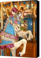 Carrousel Art Canvas Prints - Carrousel 16 Canvas Print by Joyce StJames