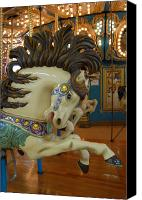 Carrousel Art Canvas Prints - Carrousel 17 Canvas Print by Joyce StJames