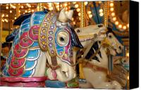 Carrousel Animals Canvas Prints - Carrousel 18 Canvas Print by Joyce StJames