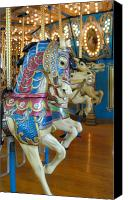 Carrousel Art Canvas Prints - Carrousel 21 Canvas Print by Joyce StJames
