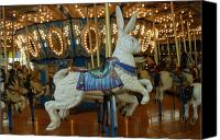 Carrousel Animals Canvas Prints - Carrousel 22 Canvas Print by Joyce StJames