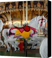 Carrousel Animals Canvas Prints - Carrousel 24 Canvas Print by Joyce StJames