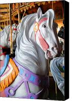 Carrousel Art Canvas Prints - Carrousel 25 Canvas Print by Joyce StJames