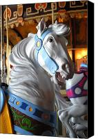 Carrousel Animals Canvas Prints - Carrousel 29 Canvas Print by Joyce StJames