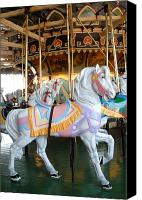 Carrousel Art Canvas Prints - Carrousel 30 Canvas Print by Joyce StJames