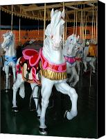 Carrousel Art Canvas Prints - Carrousel 32 Canvas Print by Joyce StJames
