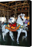 Carrousel Art Canvas Prints - Carrousel 33 Canvas Print by Joyce StJames