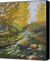 Markleeville Canvas Prints - Carson Pass Creek Canvas Print by James Geddes