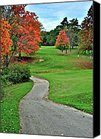 Sleepy Hollow Canvas Prints - Cart Path Canvas Print by Robert Harmon