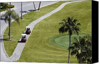 Cart Driving Canvas Prints - Carts on a Golf Course Canvas Print by Skip Nall
