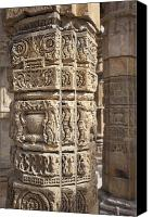 Complex Canvas Prints - Carved Pillars in the Qutub Complex Canvas Print by Bryan Mullennix