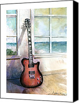Electric Guitar Canvas Prints - Carvin Electric Guitar Canvas Print by Andrew King